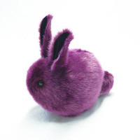 Blackberry Bunny Stuffed Toy Faux Fur Plushie Large Size