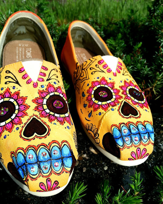 Made to Order Custom Painted TOMS Sugar from ...