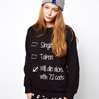 Local Heroes | Local Heroes Relationship Status Sweatshirt at ASOS