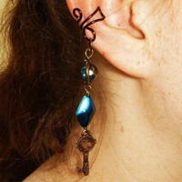 Key to the Ocean Ear Cuff