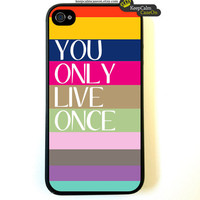 YOLO iPhone 4 Case New Hard Fitted Case For by KeepCalmCaseOn