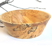 Minimalist styled hand turned spalted birch wood by HolzStudios
