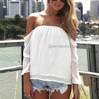 OFF THE SHOULDER TOP (Expected Delivery 9th August, 2013) , DRESSES, TOPS, BOTTOMS, JACKETS & JUMPERS, ACCESSORIES, SALE, PRE ORDER, NEW ARRIVALS, PLAYSUIT, Australia, Queensland, Brisbane