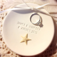 CUSTOM  Genuine Starfish Beach Wedding Ring by CupidsAtelier