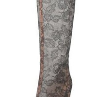 Valentino Lace Knee High Salon High Heel Dress Boots Made in Italy: Amazon.com: Shoes