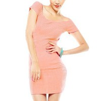 Amazon.com: Allegra K Women Scoop Neck Short Raglan Sleeve Sexy Dress Pink XS: Clothing