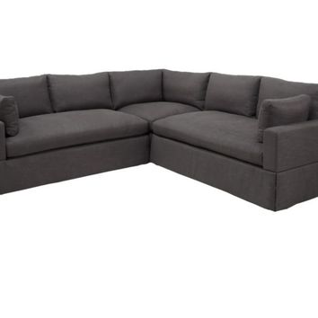 Theodore 3 PC Sectional - Charcoal | Sectionals | Furniture | Z
