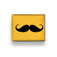 25% off SALE - Golden Stache - Classic BiFold Wallet by ZERO GRAVITY