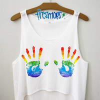 Art Love Crop Top | fresh-tops.com