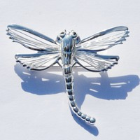 Silver Flexible Tail Dragonfly Slide for Necklace & Pin Broach Fashion Jewelry