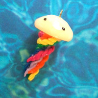 Polymer Clay Jellyfish Charms / Jellyfish Charm / by ThePinkCookie