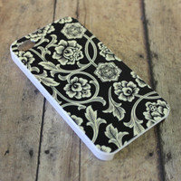 Obey flower vine, black and white iPhone 4/4s case/cover No.4-21