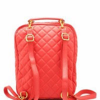 quilted convertible backpack &amp;#36;42.60 in DKMINT SALMON - Bags | GoJane.com