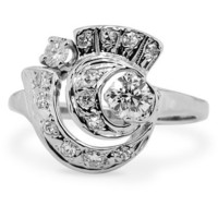 The Dara Ring in 14K White Gold