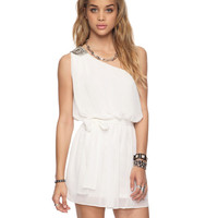 Bejeweled One Shoulder Dress | FOREVER21 - 2000035128