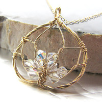 Lotus Blossom Necklace 14k Gold filled and by megandarienzo