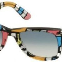 Ray-Ban Original Wayfarer Sunglasses Multicolor Gradient Light Blue