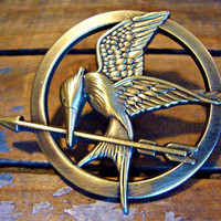 broochThe Hunger Games pendant Inspired Mockingjay by qizhouhuang