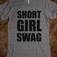 Short Girl Swag (vintage)-Unisex Athletic Grey T-Shirt