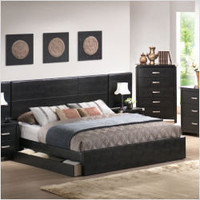 Wildon Home Platform Bed in Black Vinyl