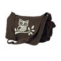 Owl Messenger Bag - Brown