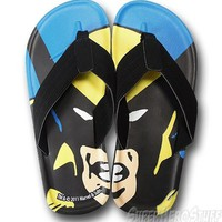 Wolverine Close Up Flip Flops