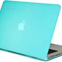 Kuzy - Tiffany Hot Blue 13inch Rubberized Satin Hard Case Cover for NEW Macbook PRO 13.3 (A1278 with or without Thunderbolt) Aluminum Unibody