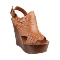 WINNAA COGNAC LEATHER women's sandal high ankle strap - Steve Madden