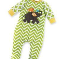 Mud Pie Unisex-Baby Newborn Safari Elephant Sleeper Footie:Amazon:Clothing