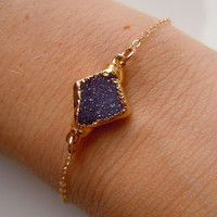 Druzy Bracelet in Plum Purple by 443Jewelry on Etsy