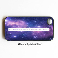 iphone case Nothing's gonna change my world Stardust by MursBlanc
