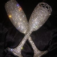Customized Handmade Wedding Champagne Flutes