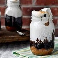 SMORES HOT FUDGE CAKE IN A JAR-SET OF 4 | craftcarnival - Edibles on ArtFire