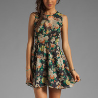 Dolce Vita Delyth Tank Dress in Black Floral from REVOLVEclothing.com