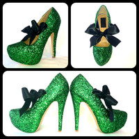 The Kelly Glitter High Heels