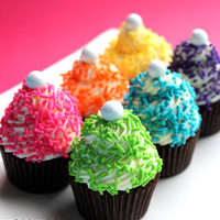 Girls Rainbow Jimmie Sprinkles  6 colors 6 by thebakersconfections