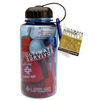 ThinkGeek :: Ultimate Survival Kit in a Water Bottle