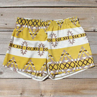 The Billy Native Shorts in Mustard, Women's Sweet Bohemian Clothing