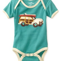 Hatley - Baby Boys Infant Surf's Up One Piece Bodysuit, Ocean Blue, 6-12 Months