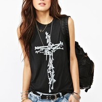 Cross Bones Muscle Tee in Clothes Tops Graphics at Nasty Gal