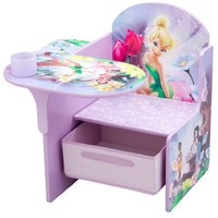 Fairies Desk Chair with Pull Out under the Seat Storage Bin
