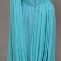 Exquisite Gathered Chiffon 1960's Evening Gown w/Drape VINTAGEOUS VINTAGE CLOTHING