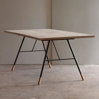 Tipped Dining Table, reclaimed table, recycled furniture | Folklore