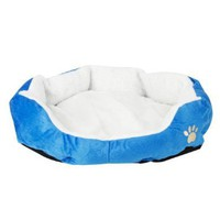 Cotton Pet Dog Puppy Cat Soft Fleece Warm Bed House with Pad Medium M Size