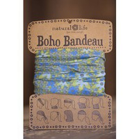 Blue & Lime Boho Bandeau