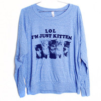 Just Kitten Raglan Select Size by burgerandfriends on Etsy
