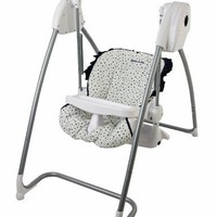Dream On Me 2 In 1 Highchair and Swing, Blue