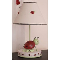 Kids Line Lamp Base & Shade - Lady Bug