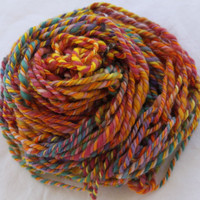 Hand Knit Summer Scarf in Vibrant Multi Colors Soft by bpenatzer