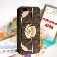 Louis Vuitton Bag - design for iPhone 4/4S Black case